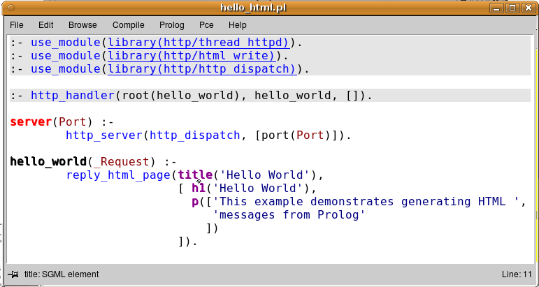 html hello world